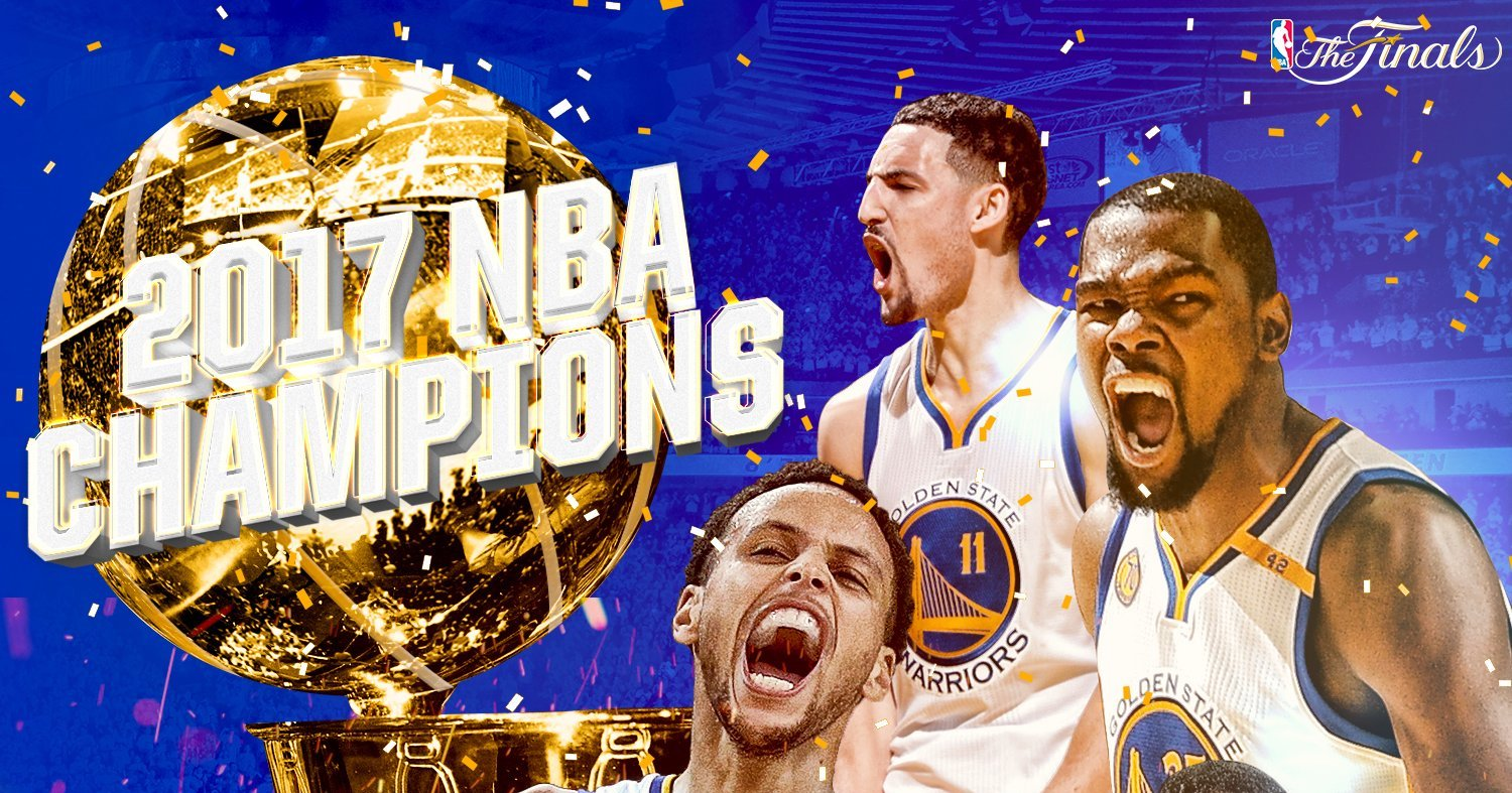 Les Golden State Warriors sont champions NBA 2017!