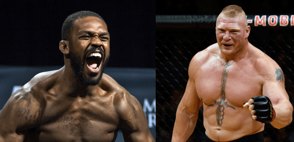 Brock Lesnar et Jon Jones sont chauds pour s'affronter à l'UFC