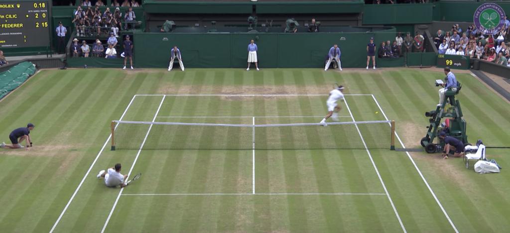 Roger Federer régale contre Marin Cilic