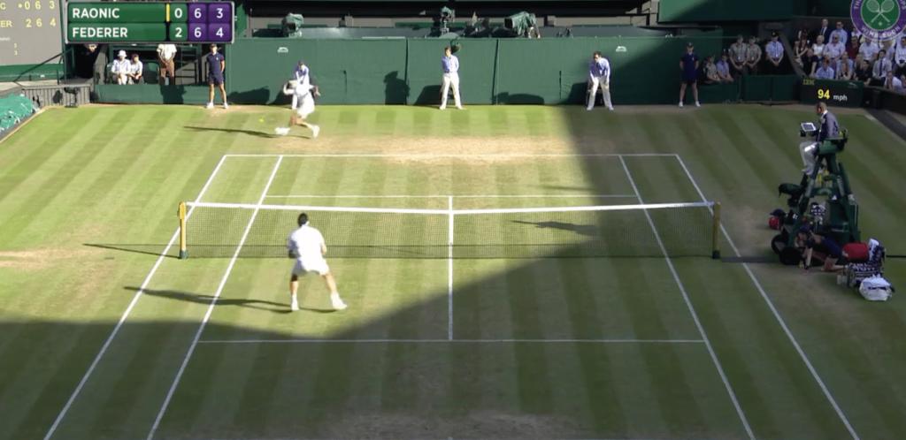 Le passing ahurissant de Roger Federer contre Milos Raonic