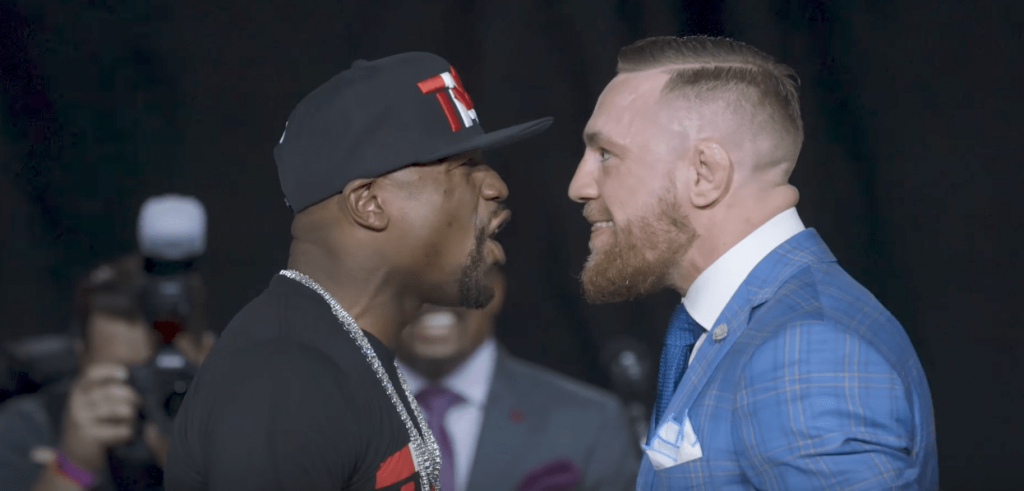 Le staredown de Toronto entre McGregor et Mayweather