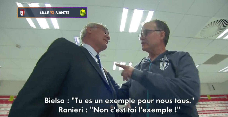 L'échange entre Marcelo Bielsa et Claudio Ranieri après Lille-Nantes