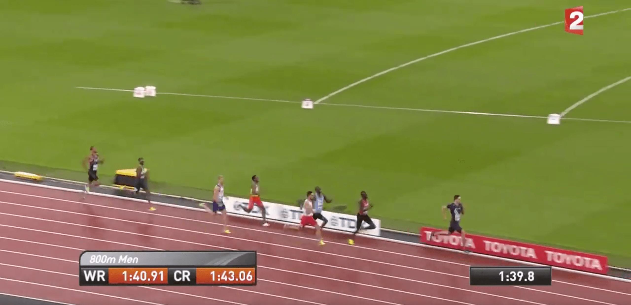 Le finish fou de Pierre-Ambroise Bosse lors de la finale du 800m
