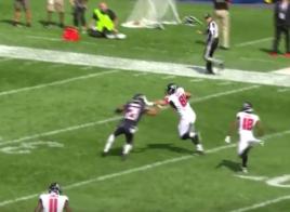 Austin Hooper et Matt Ryan tapent le touchdown de 88 yards contre les Bears