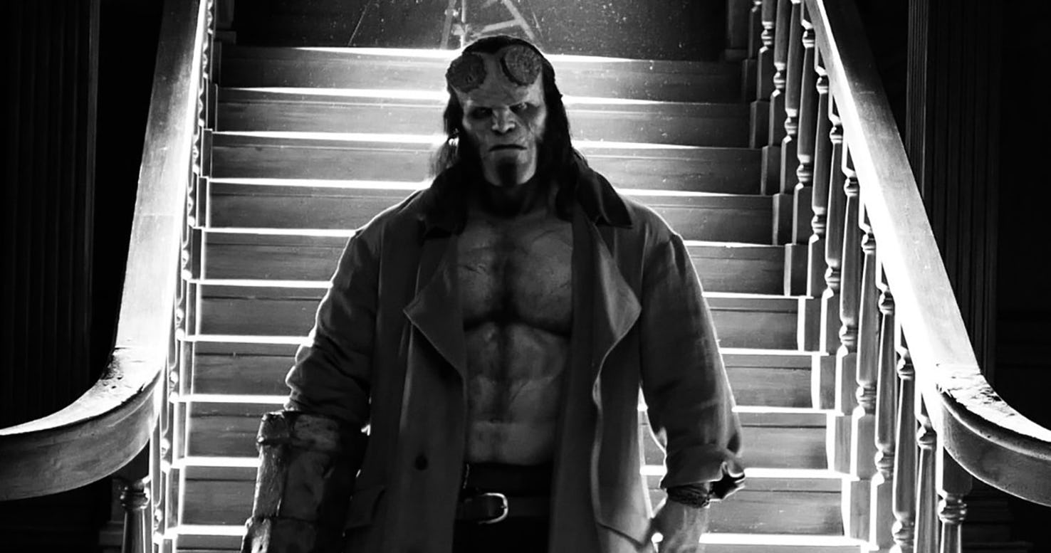 Hellboy David Harbour noir blanc