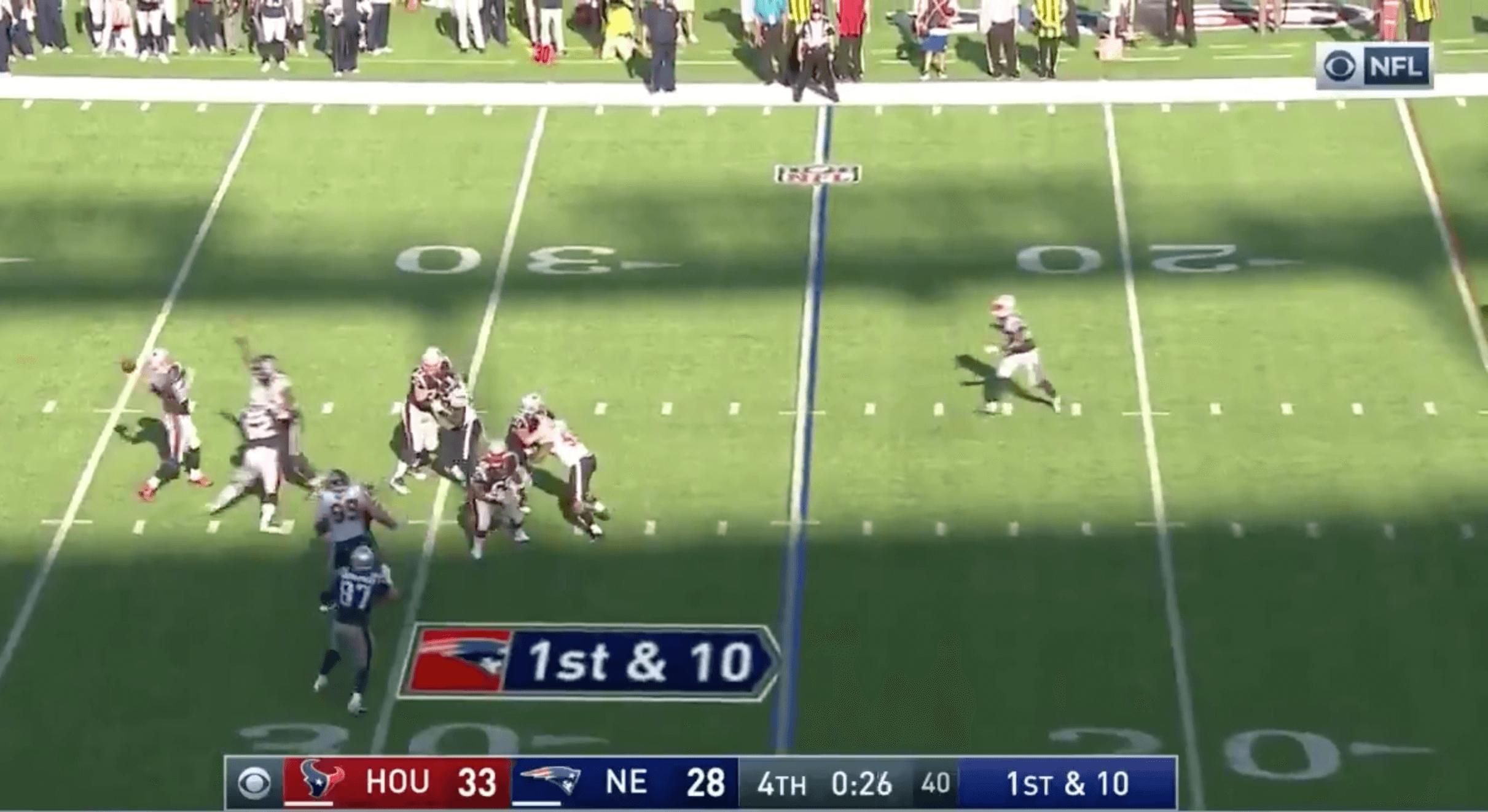 Patriots Tom Brady Texans ultime action