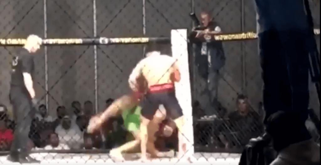 Au sol, Hussam Qashou claque le KO par headkick
