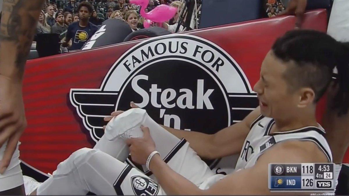 La blessure de Jeremy Lin lors du season opener des Nets