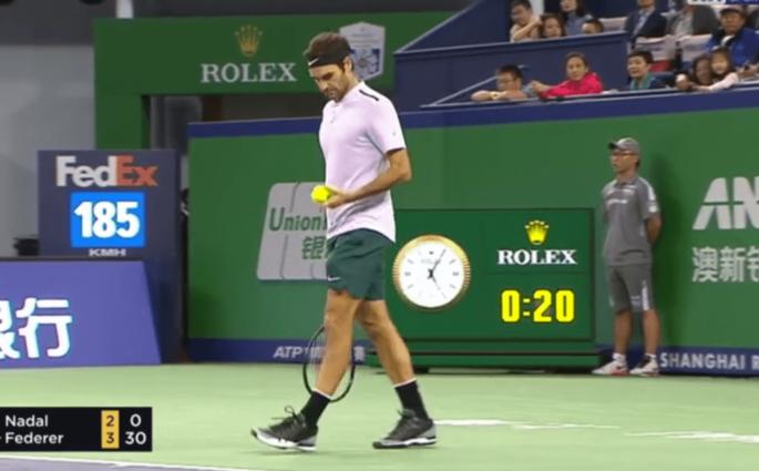 Roger Federer et son jeu en 50 secondes contre Rafael Nadal