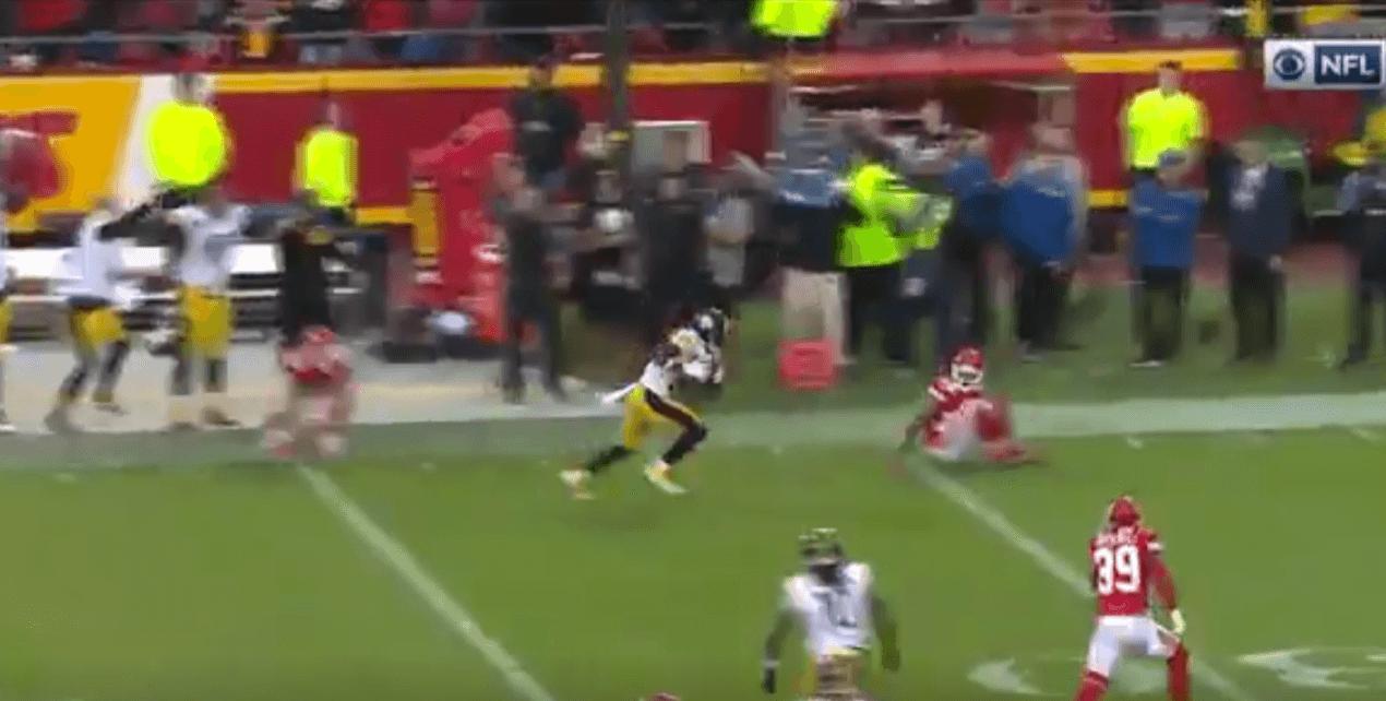 Le gros touchdown d'Antonio Brown pour enterrer les Chiefs