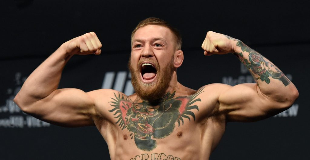 Conor McGregor weigh in