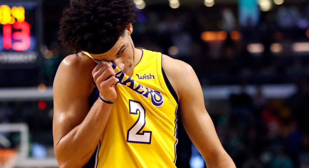 Lonzo Ball Lakers pourcentage