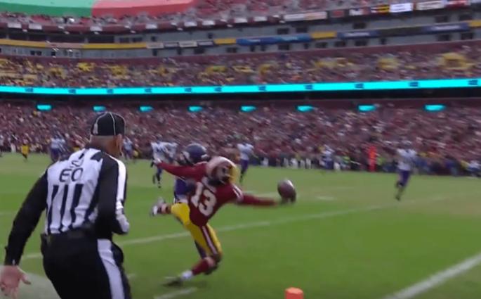 Maurice Harris touchdown