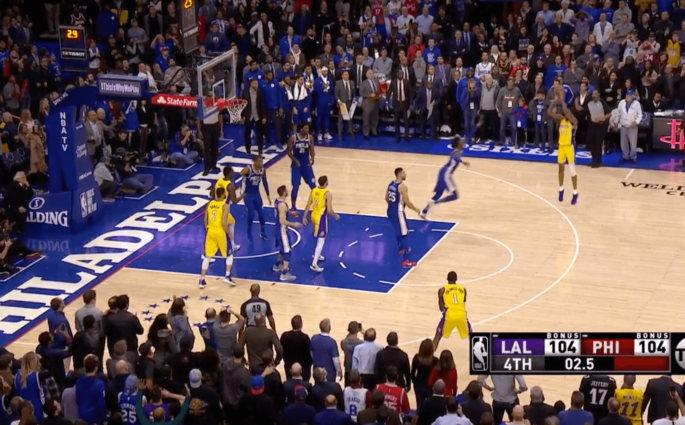 Brandon Ingram game-winner Philadelphia Sixers