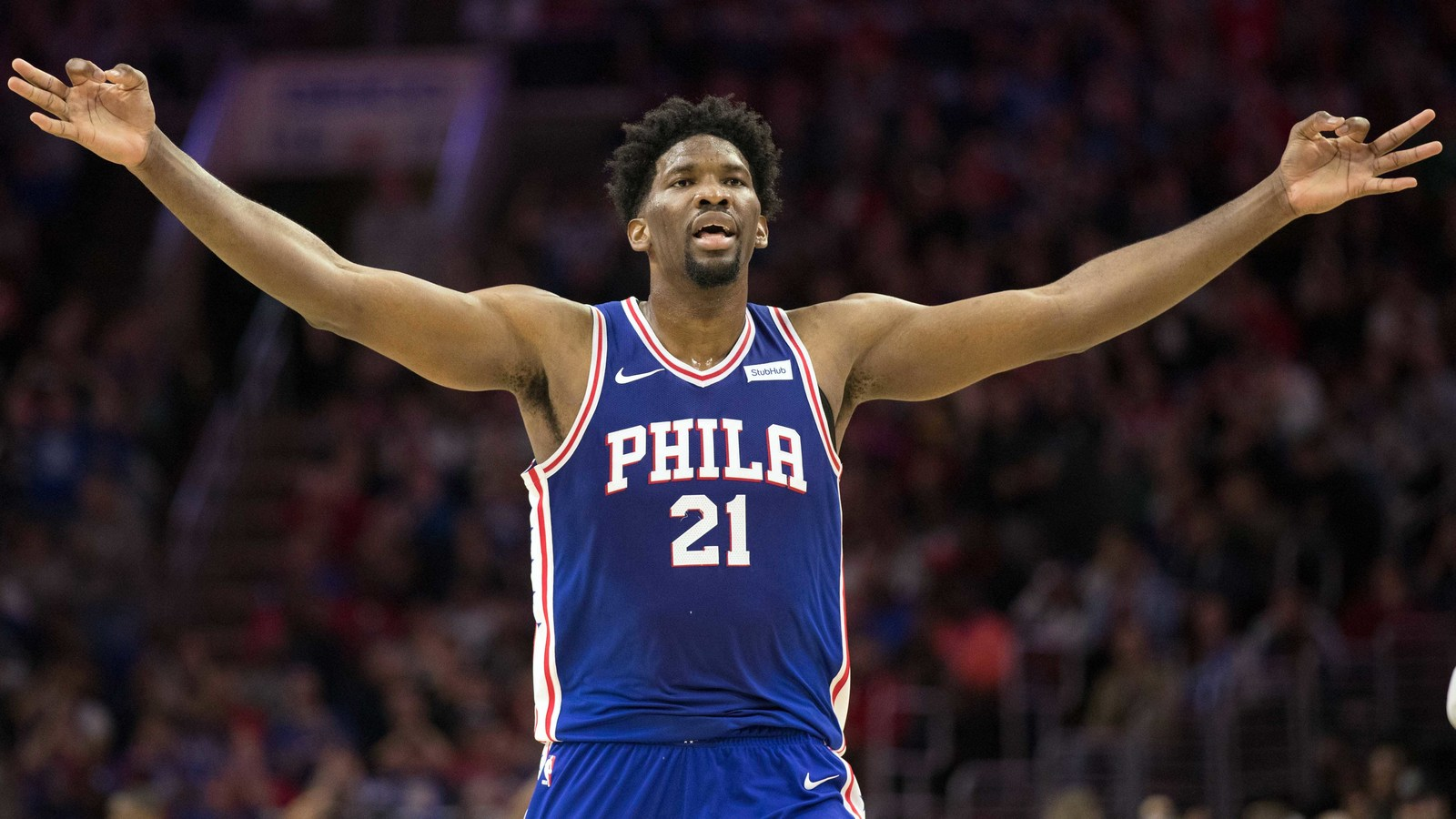 Joel Embiid 76ers Warriors