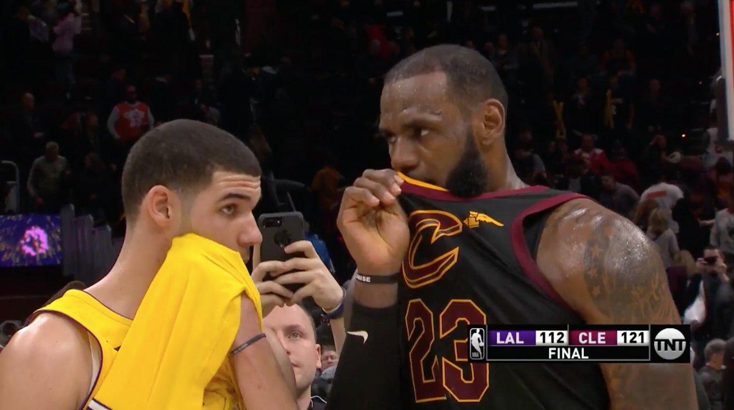 LeBron James Lonzo Ball Lakers Cavaliers