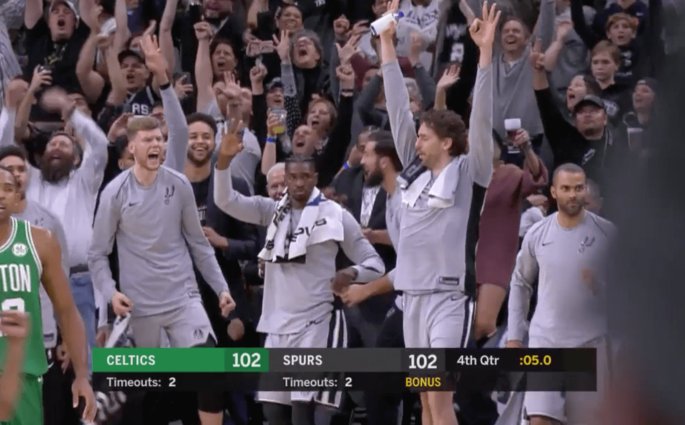 Manu Ginobili Celtics Game-Winner