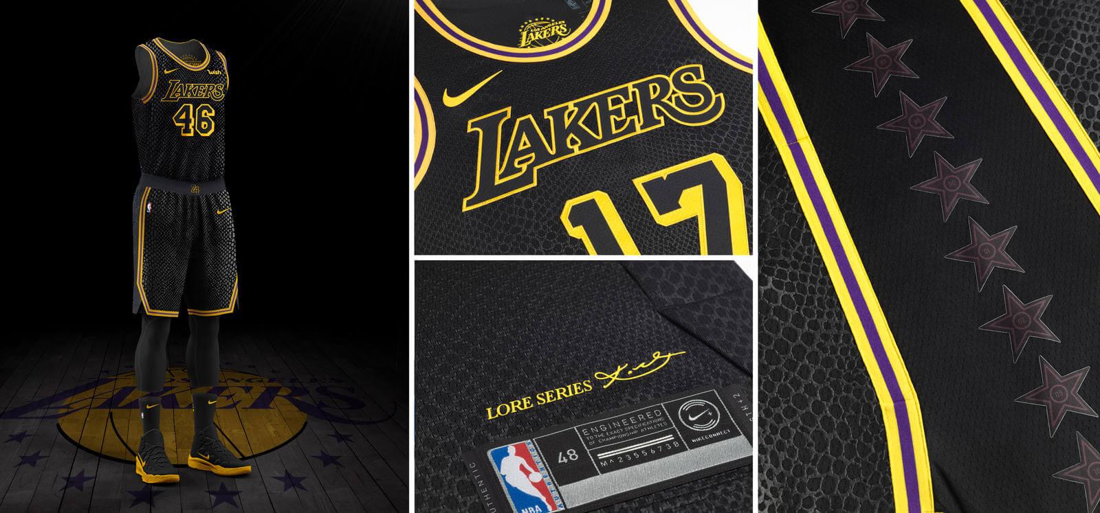 NBA NIke City Edition Lakers