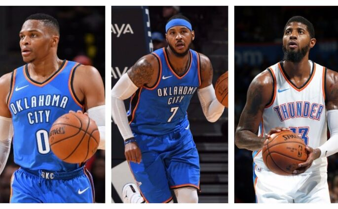Paul George Carmelo Anthony Russell Westbrook
