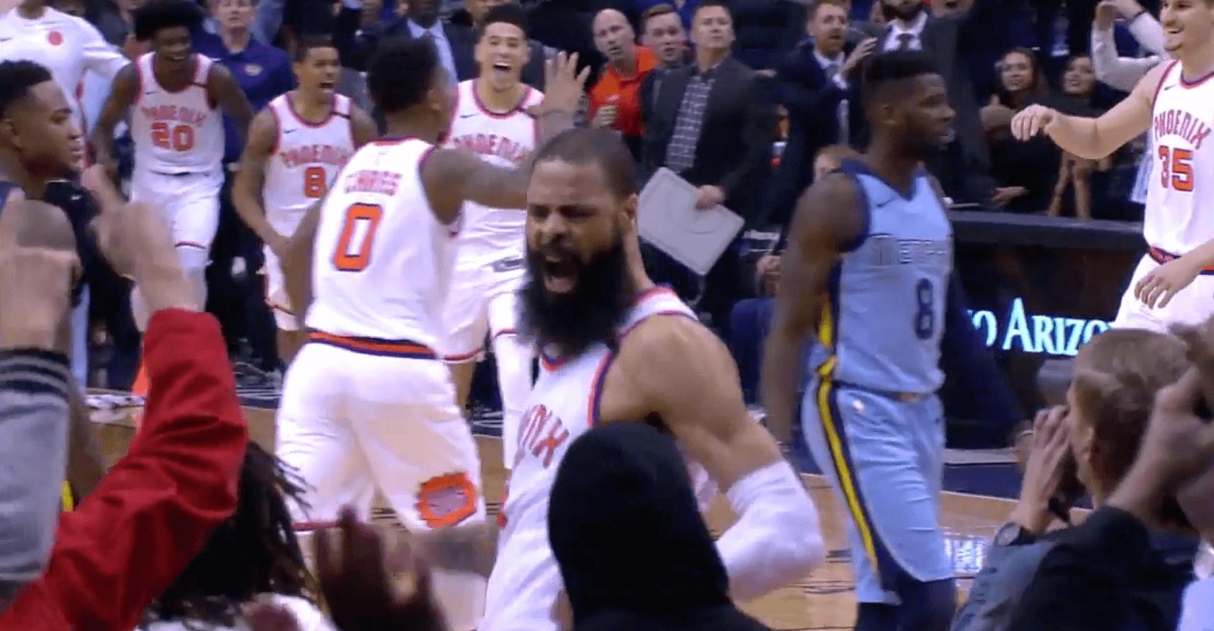 Tyson Chandler Suns alley-oop buzzer