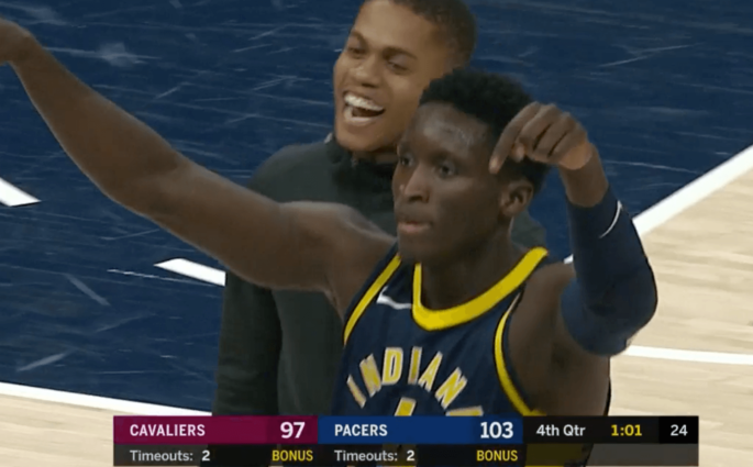 Victor Oladipo Indiana Pacers Cleveland Cavaliers