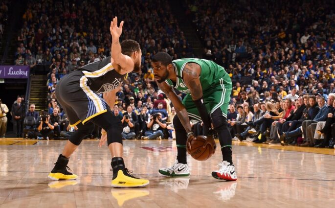 Celtics Warriors Kyrie Irving Stephen Curry