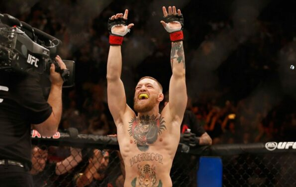 Conor McGregor celebration