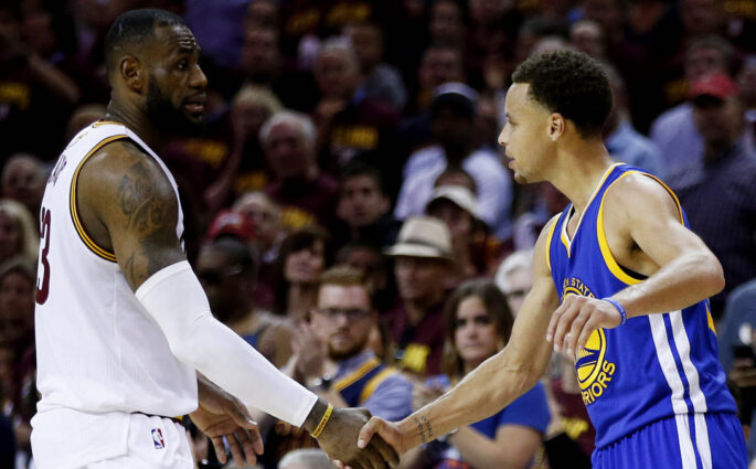 LeBron James Stephen Curry NBA All Star Game 2018