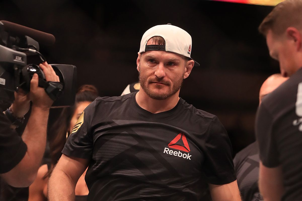Stipe Miocic champion hat