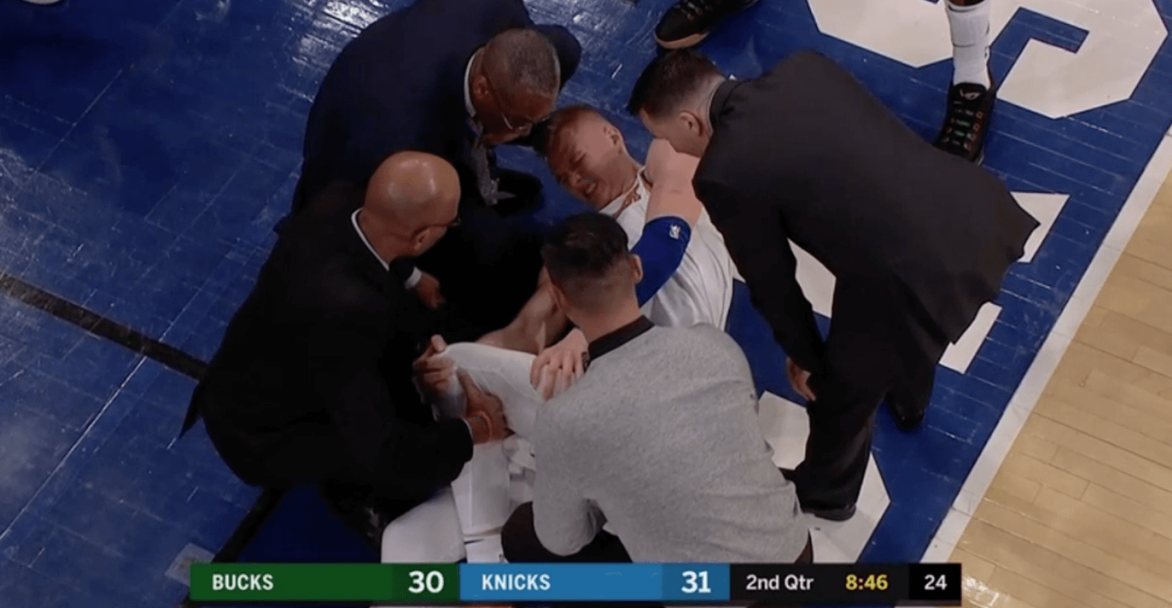 Buck injury Kristaps Porzingis
