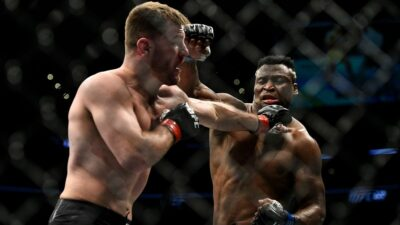 Francis Ngannou Stipe Miocic Mark Hunt