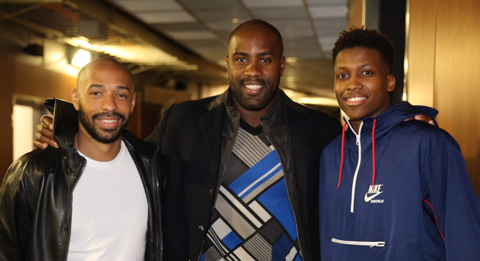 Frank Ntilikina a rencontré Thierry Henry et Teddy Riner au All-Star Game