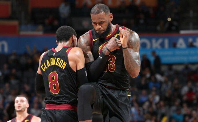 LeBron James Cleveland Cavaliers OKC Thunder
