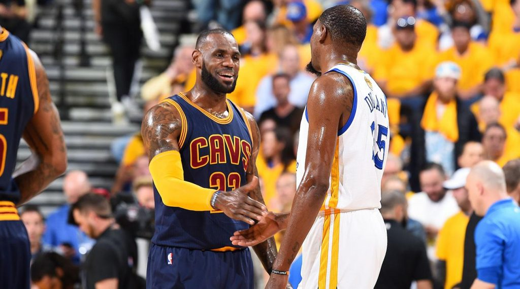 LeBron James Kevin Durant Warriors