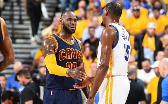 LeBron James Kevin Durant Warriors