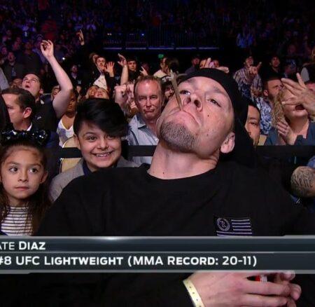 Nate Diaz s'allume un joint en plein UFC Austin