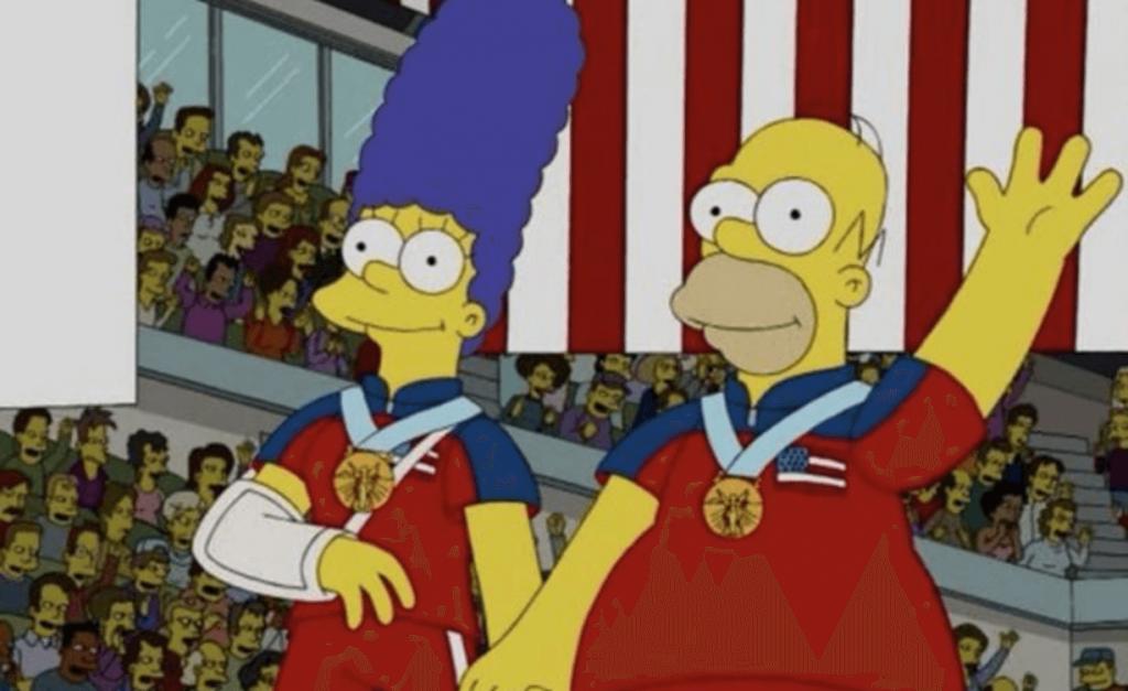 Simpsons Etats-Unis en curling