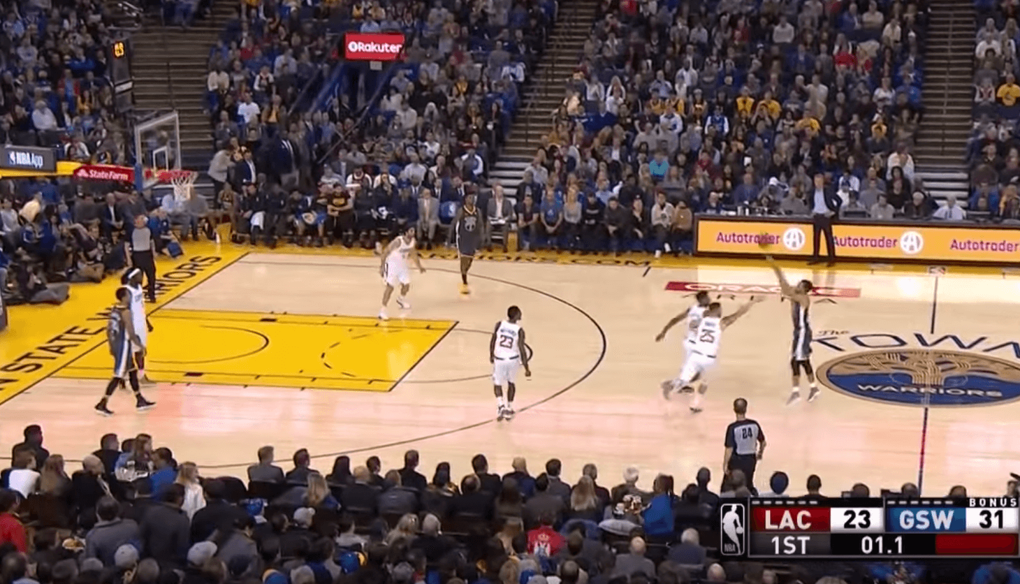 Stephen Curry Buzzer Beater Clippers