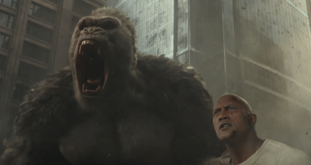 The Rock trailer Rampage