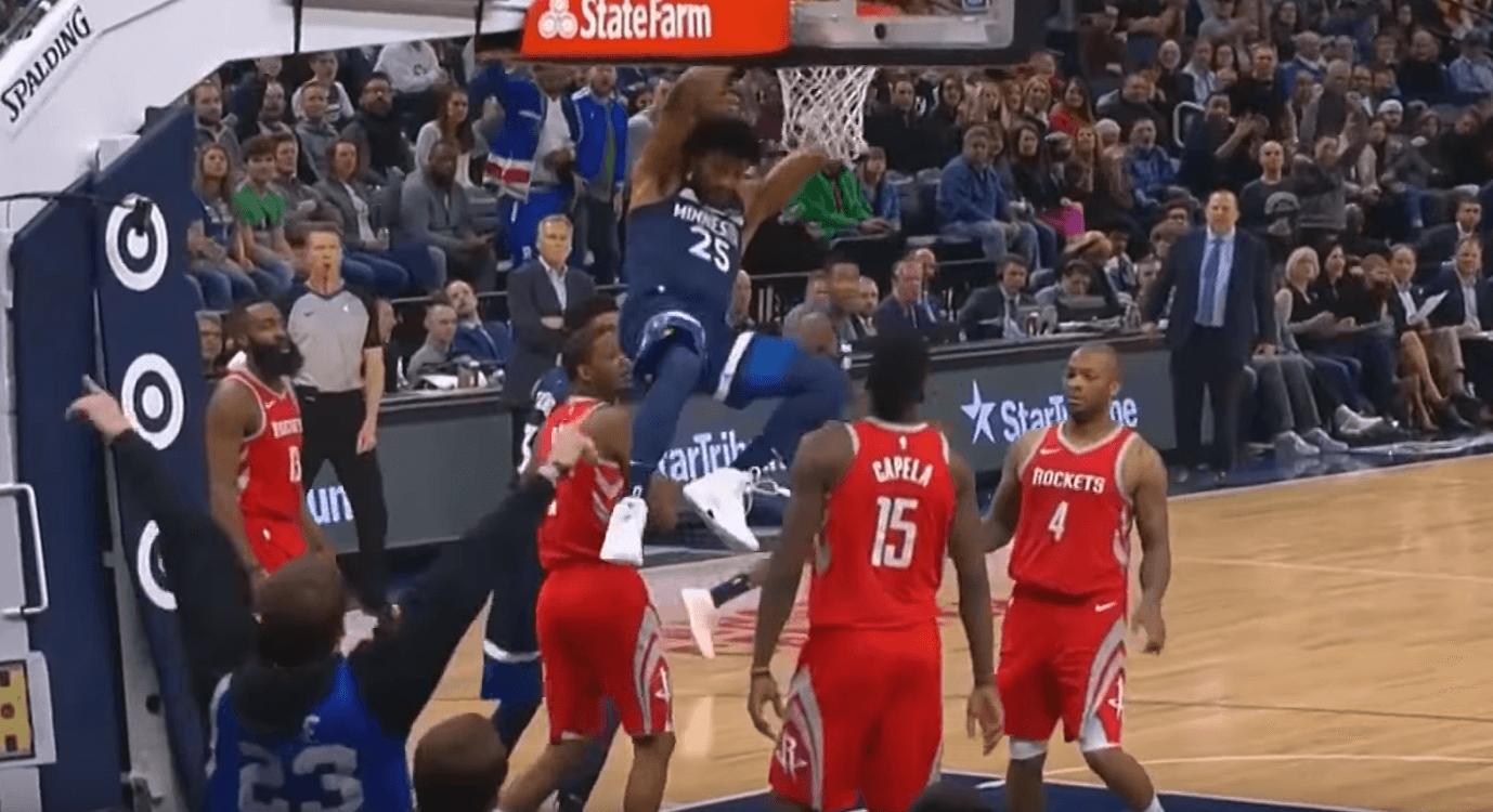 Derrick Rose Wolves dunk