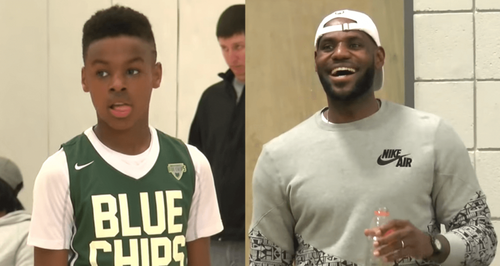 LeBron James LeBron James Jr (1)