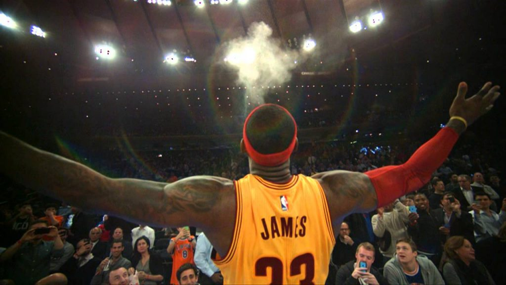 NBA LeBron James Chalk Toss