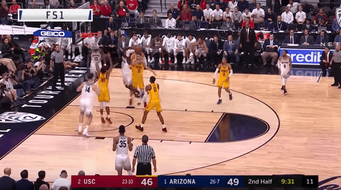 Rawle Alkins claque le très gros dunk pour mettre le feu contre USC