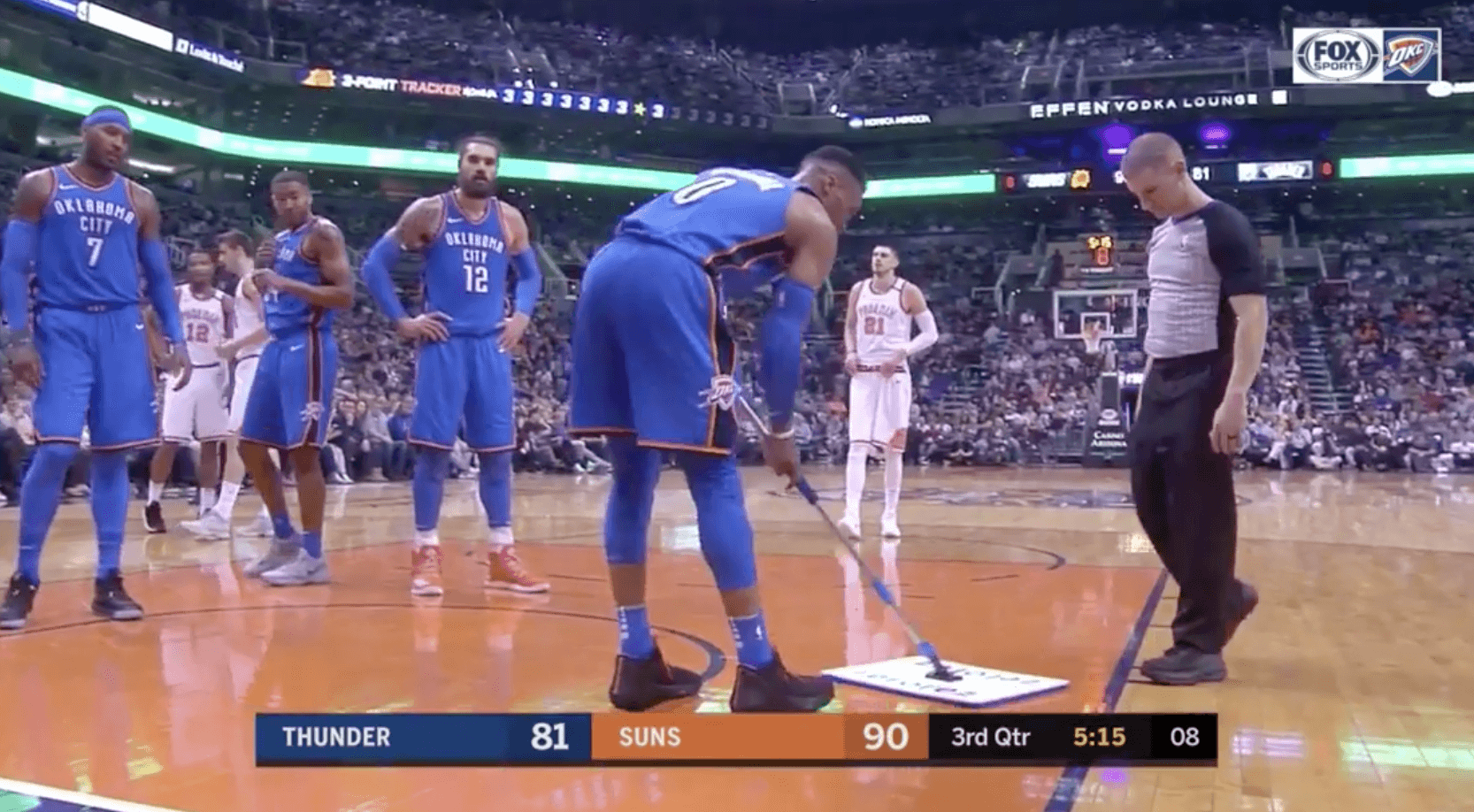 Russell Westbrook Thunder Suns