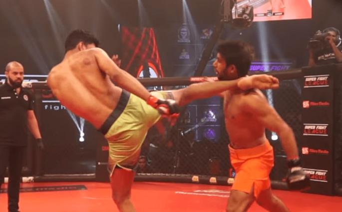 Sumeet Khade head kick KO