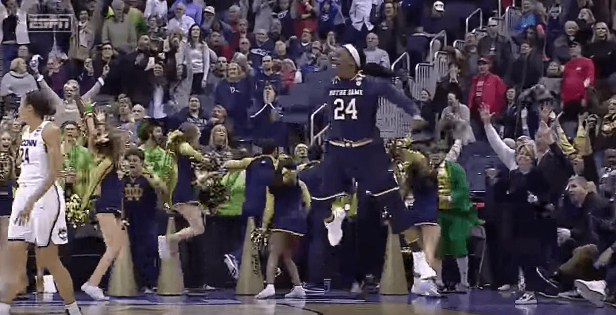 Les ogres de UConn s'inclinent en overtime contre Notre Dame
