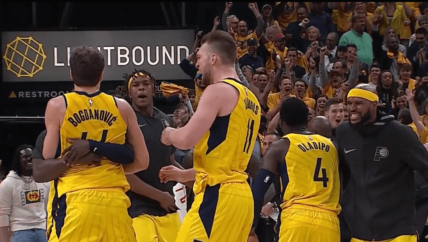 Les Cavaliers gâchent 17 points d'avance face aux Pacers