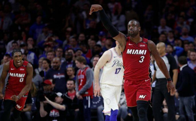 Dwyane Wade Heat Sixers
