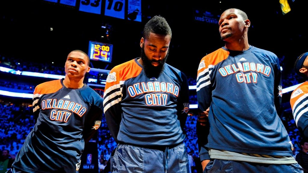 James Harden Kevin Durant Russell Westbrook