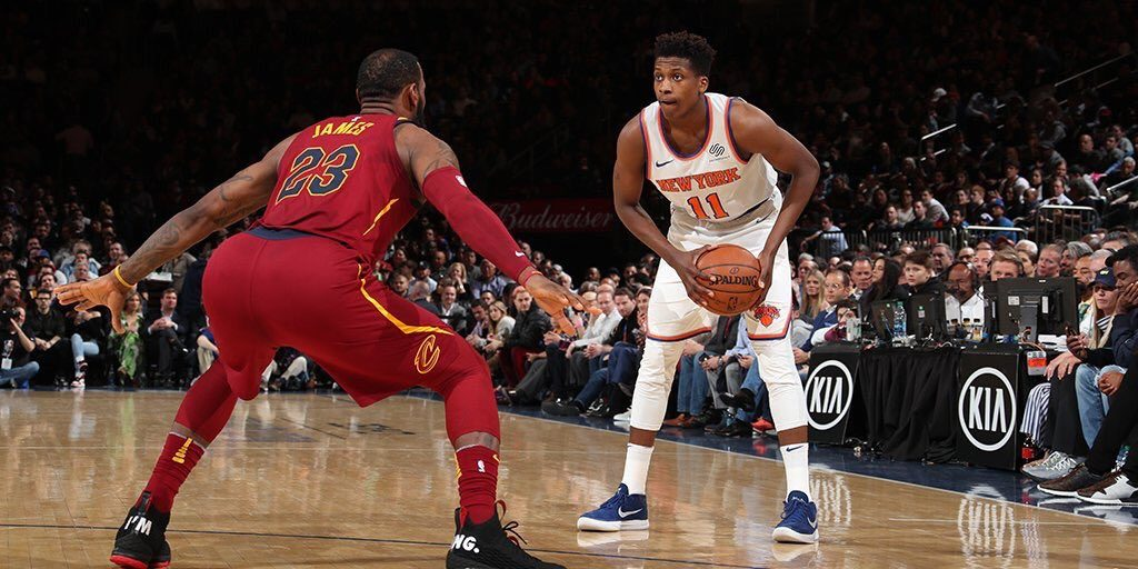 King James Frank Ntilikina career-high